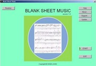Blank Sheet Music screenshot